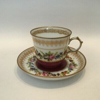 Sevres Hand Painted Cup And Saucer • 50£