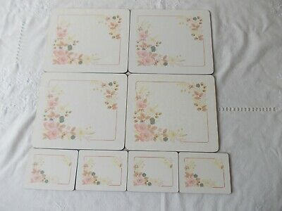 Boots Hedge Rose 4 Table Place Mats & 4 Coasters • 11.99£