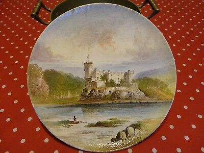 WilliamYale19th Century Copeland Earthenware Plaque/Plate Of Dunvegan Castle . • 115£