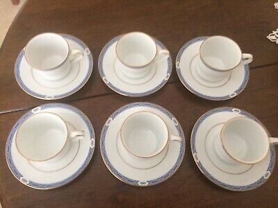 Set Of 6 Boots Blenheim China Coffe Cups And Saucers • 27£