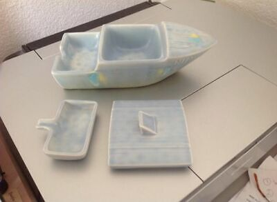 Beswick Nippy Boat Ashtray - Extremely Rare In Blue Perfect Condition • 99£
