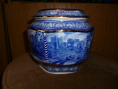 Ringtons Blue & White Millennium 2000 Castles Biscuit Jar Made By Wade  • 3£