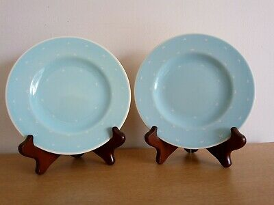 Susie Cooper Crescent Side Plate X2 - Turquoise (Set A) • 17.99£