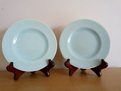 Susie Cooper Crescent Side Plate X2 - Turquoise (Set B) • 15.99£