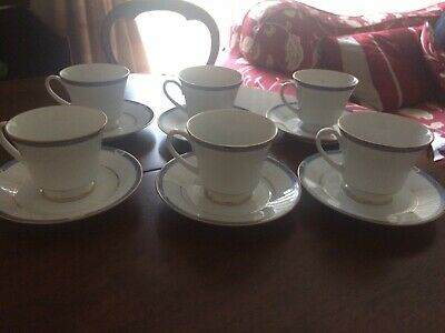 Set Of 6 Boots Blenheim China Tea Cups And Saucers • 28.99£