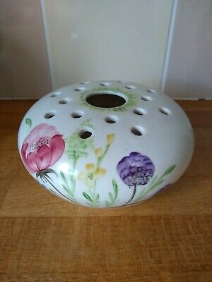 Vintage Hand Painted Rose Bowl By Elizabeth Radford, Signed • 3.99£