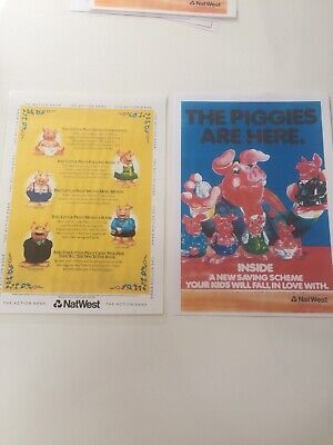 NatWest Pig Advertising Posters X 2 • 3.90£