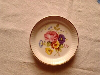Vintage Midwinter Small Pin Dish Floral Design. Hand Painted. • 2.50£