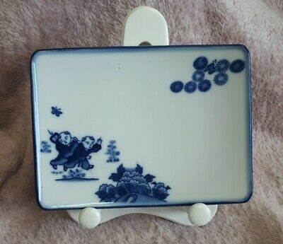 Blue And White Oriental Sushi Plate • 3£