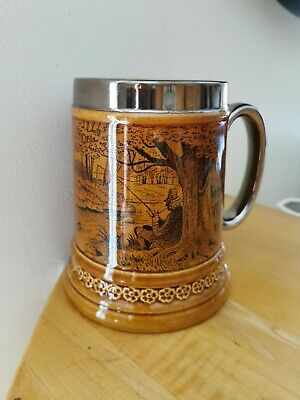 Vintage Lord Nelson Pottery Tankard Fisherman Large Made In England  • 9.99£