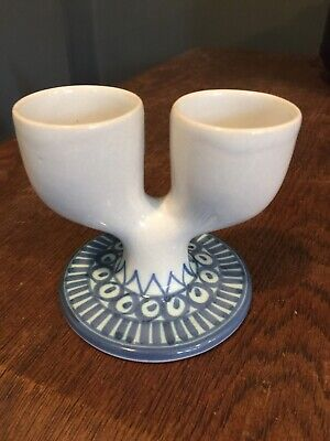 Superb Troika Double Egg Cup With Early Small Ink Stamp Used Circa 1964 • 45£