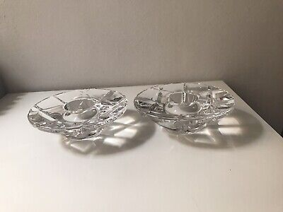 Pair Of Orrefors Candle Holders Madison Fashion • 19.95£