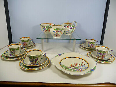 Beautiful Floral Hand Painted Tea Set By Ridgways, Bedford Ware • 39.99£