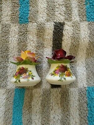 Royall Albert Old Country Roses. Condiment Set. Salt & Pepper. Excellent Cond. • 7.50£