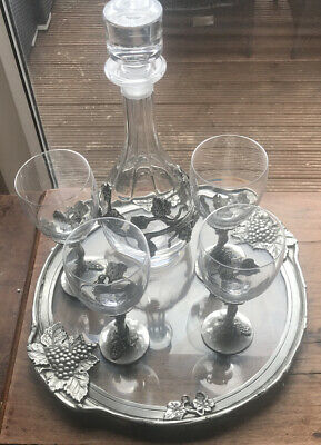 Silver & Glass Decanter Set • 50£