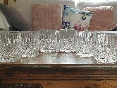 Set Of 6 New Boxed Stuart Crystal Shaftesbury Whisky Tumblers 9oz Rummers • 180£