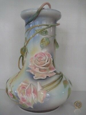 11  Stunning Statement Piece Early Franz Porcelain Large Brambly Rose Vase Fz489 • 149.99£
