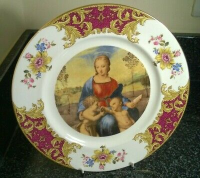 Vintage Royal Sutherland H & M Decorative China Plate Classic Painting In Centre • 19.99£