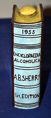 Unusual Novelty Ceramic Sherry Decanter Or Flask In Shape Of A Book • 7.95£