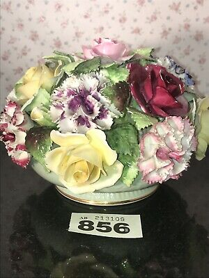 "LARGE 8"" VINTAGE ROYAL ADDERLEY FLORAL BONE CHINA POSY BOWL OF FLOWERS Roses • 24.50£"