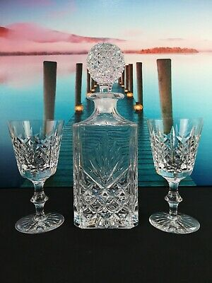 Cut Glass Crystal ''Goblet'' And Decanter • 19.99£