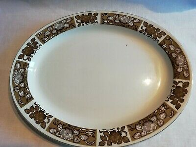 Vintage Oval Plate  12  Wood And Sons Alpine White • 0.99£