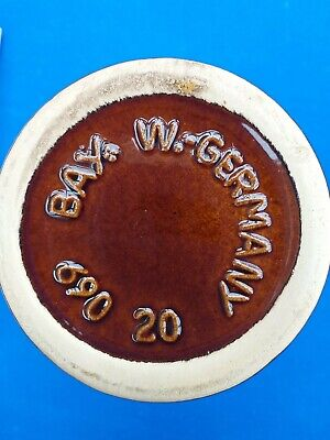 Job Lot Collection Bay Germany Fosters Cornwall Brown Drip Glazed Pottery  • 5.75£