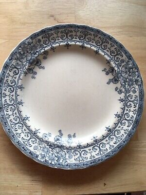 Victorian Blue/white Keeling & Co Plate • 3.20£