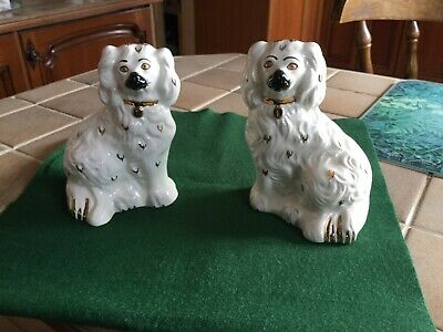 Royal Doulton Vintage Pair Of Wally Dogs / Spaniel Mantle Dogs 1378-6 • 20£