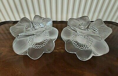 Pair Of Lalique Anemone Candle Holders - Rare & Beautiful • 485£