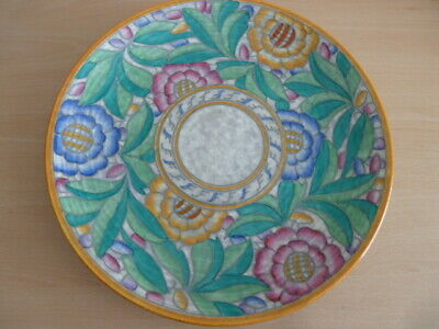 Stunning Charlotte Rhead Crown Ducal Wall Plaque Persian Rose • 95£