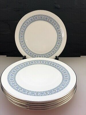 6 X Royal Doulton Counterpoint Dinner Plates 27 Cm Wide Set • 29.99£