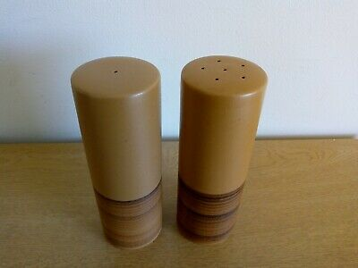 Purbeck Pottery (Colour) Toast - Salt And Pepper Pots. Rare. Height 16cm. • 14.99£