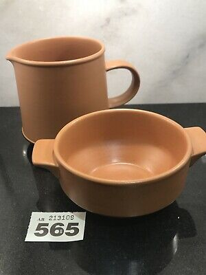 PURBECK POTTERY Bundle TOAST MILK JUG And Bowl VERY GOOD CONDITION • 9.99£