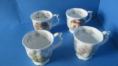 Royal Doulton Brambly Hedge  Set Of 4  Beakers / Mugs  1st Quality • 100£