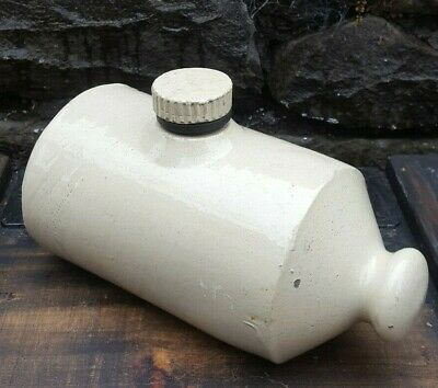 Vintage Stoneware Bed Warmer / Hot Water Bottle ,great Used Condition • 7.99£