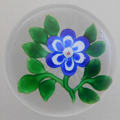 Antique Baccarat Paperweight: Blue/white Primrose • 163.98£