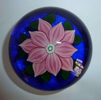 Art Glass Lampworked Flower Paperweight Clichy Baccarat St Louis ? • 16.01£