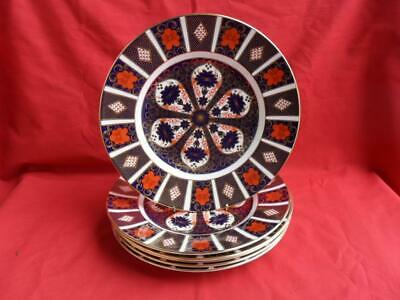 Royal Crown Derby OLD IMARI (1128) 6 X 10.5  Dinner Plates REDUCED! • 465£