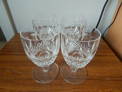 4 Waterford Crystal COLLEEN  Large Wine / Water Goblets 5.1/4 Ins. • 31.50£