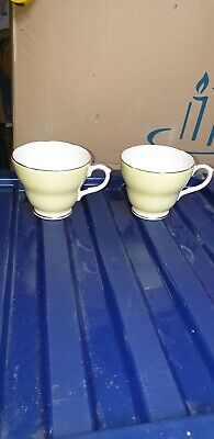 Vintage Pair Of Duchess China Teacups Cups Yellow Beautiful Stunning Interesting • 4.65£