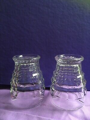 TWO Small Art Deco Pressed Glass Tumblers • 1.40£