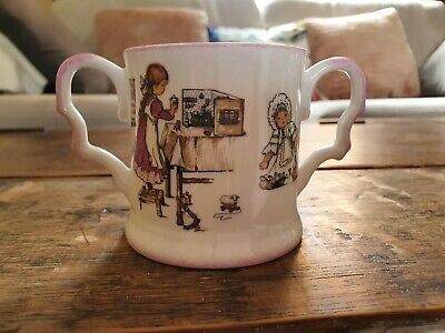 Vintage Raesuevic Hand Decorated Two Handled Nursery Child Cup • 10.99£
