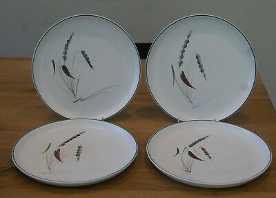 Set Of 4 Original Vintage Denby Greenwheat 25.5cm Dinner Plates  • 32£