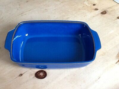 Denby Imperial Blue Large Serving Dish / Oven Dish, Excellent Condition Used. • 7£