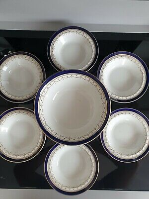 Bleu De Roi Alfred Meakin Serving Bowl And 6 Dishes • 0.99£