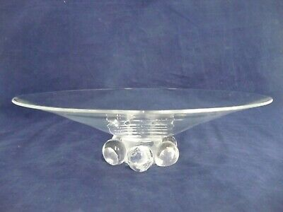 Lovely Mid-century Steuben Ball Footed Glass Low Bowl • 190.16£
