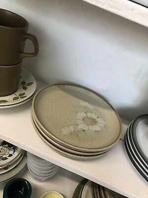 Denby Daybreak 3x Tea Plates - Other Bits Also Listed • 9£