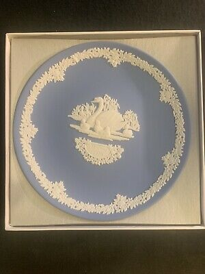 Wedgwood 1978 Pale Blue & White Jasper Mother Collector's Plate, 6.5 In - Boxed. • 9.50£