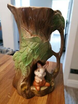Withernsea Eastgate Pottery Large Fauna Vase Rabbit 8.5 Inches Tall • 9.99£